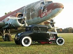 """DC 3 Air craft, And A Cold Stick """"Hot Rod"""".by seat of Pants!"""