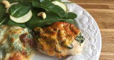 Hasselback kylling med spinat og flødeost via http://www.carrotstick.dk