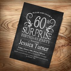 Hey, I found this really awesome Etsy listing at https://www.etsy.com/listing/178204271/60th-surprise-birthday-invitation-diy