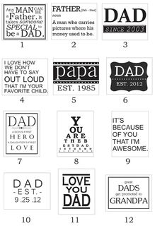 CONTROLLING Craziness: Fathers Day Printables and Photo ideas