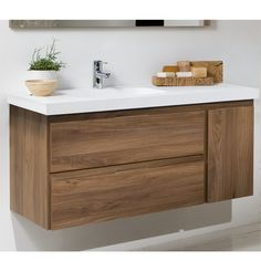 Mueble de Baño LINE COMPLET Nogal Two horizontal and one vertical pull drawer? And it floats? Laundry Room Bathroom, Bathroom Cabinets, Bathroom Furniture, Laundry Rooms, Vanity Bathroom, Glamorous Bathroom, Modern Bathroom, Small Bathroom, Bathroom Ideas