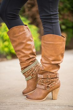 We love fall, and all the new boots each year. We have one of each color. Shhh...don't tell my husband. Shop these California Dreamin' In Bling Boots at NanaMacs Boutique.