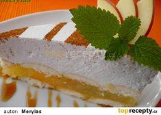 Jablečný dortík se skořicovou pěnou - nepečený recept - TopRecepty.cz Vanilla Cake, Cheesecake, Food And Drink, Treats, Sweet Like Candy, Goodies, Cheesecakes, Sweets, Cherry Cheesecake Shooters