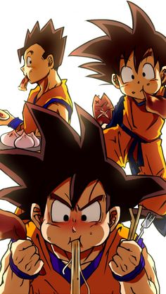 Goku, Gohan, and Goten - they will eat you out of house and home =)