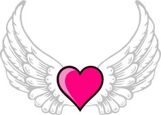 Hearts with Wings | Wings N Pink Heart clip art - vector clip art online, royalty free ...