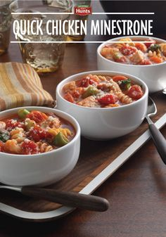Try this Quick Chicken Minestrone recipe for an easy weeknight dinner!