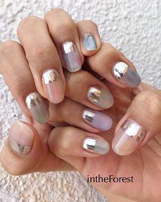 ネイル ネイル in 2019 Fabulous Nails, Perfect Nails, Love Nails, Pretty Nails, Feet Nail Design, Feet Nails, Instagram Nails, Minimalist Nails, Hair Skin Nails
