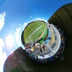 Pitch side  #torquayunited #torquay #torbay #football #soccer #tinyplanet #littleplanet #360photo #360view #lifein360 #instalittleplanet #360camera #360photography #360 #360photo #sphere #travel #photosphere #360panorama #spherical #planet #snapshot #camerafun