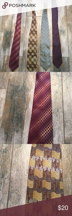 Various men's ties. $20 each or bundle!! Various quality men's ties. Name brands include Chaus Reed and company, dockers, Tom James, Dino Bassi. Sold individually for $20. Bundle and I will make you a great offer! All are in good used condition. Other