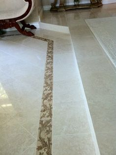 Marble flooring in LR. Photo by Rebekah Myers Dunford