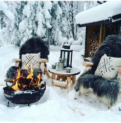 Pictures on walls and Frames with pictures XVII Bringing a Touch of the Orient to Your Back Garden A Winter Cabin, Cozy Cabin, Winter Scenery, Cabins In The Woods, Winter Garden, Winter Christmas, Xmas, Holiday, Winter Time