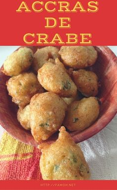 Accras de crabe (beignets) - The Best Breakfast Recipes Baked Shrimp Recipes, Shrimp Recipes For Dinner, Fish Recipes, Mexican Food Recipes, Appetizer Recipes, Beignets, Creole Recipes, Fish Dinner, Best Breakfast Recipes