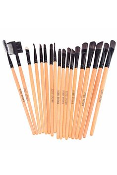 Professional 24 Piece Makeup Brush Set with Carrying Case #Romwe