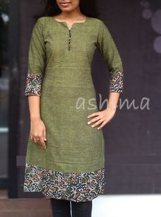 Cotton Kurta- Price All sizes available. Salwar Neck Designs, Churidar Designs, Dress Neck Designs, Kurta Designs Women, Blouse Designs, Kurta Patterns, Dress Patterns, African Fashion, Indian Fashion