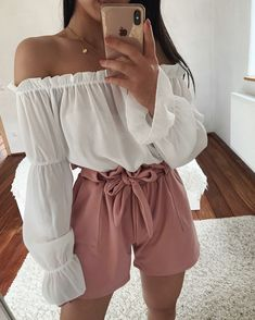 Cute Summer Outfits, Cute Casual Outfits, Short Outfits, Pretty Outfits, Stylish Outfits, Spring Outfits, Mode Bcbg, Mode Instagram, Girl Fashion