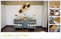 Salvage Snob dessert dresser display - Desserts by Ana Sherer from Sherer events