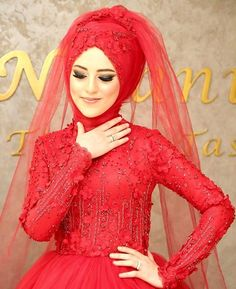 Bridal Hijab, Hijab Wedding Dresses, Hijab Bride, Wedding Gowns, Ethnic Fashion, Hijab Fashion, Bride Groom, Wedding Bride, Beautiful Henna Designs