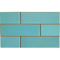Turquosi Flats Leather Ceramic Tiles 2 1/8x7 1/2