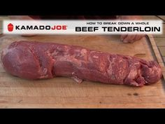 In this video I will teach you a simple breakdown procedure for a whole beef tenderloin. We will use each part of this tenderloin in some upcoming videos to . Grilling Recipes, Beef Recipes, Whole Beef Tenderloin, Joe Beef, Joe Recipe, Kamado Joe, Komodo, Smoking Meat, Grills
