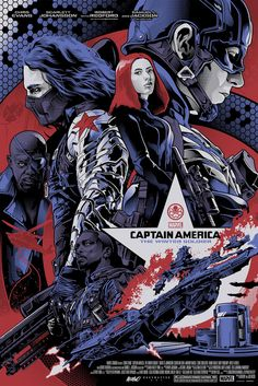 """Captain America: The Winter Soldier"" Limited Variant - Marvel Poster – Grey Matter Art Marvel Movie Posters, Best Movie Posters, Movie Poster Art, Marvel Movies, Marvel Dc, Marvel Captain America, Marvel Heroes, Captain America Poster, Super Anime"