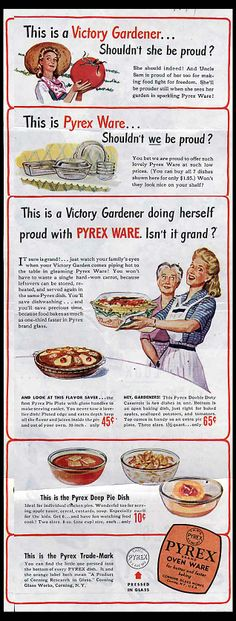 Just love all the olde Pyrex ware ads...Shouldn't she be proud?...why yes!