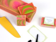 Cutting and Labeling Soap