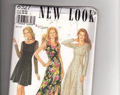 Nouveau Look 6327 - Misses robe: couture, patron, sept tailles en un, à manches longues et robe sans manches, non découpé, ff, taille 10, 12, 14, 16, 18, 20, 22