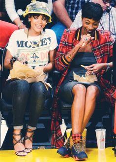 Rihanna at a basketball game in LA 11/22/13