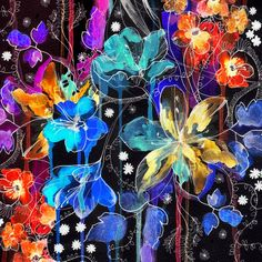 Emma Frances Designs: Vibrant Inky Works of Art!