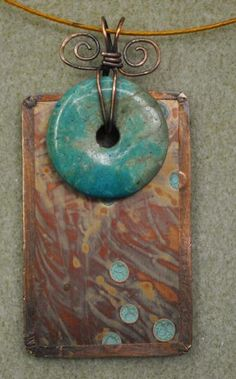turq donut pendant  good color match