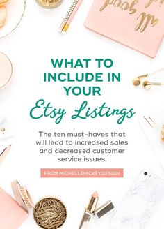 Are you an Etsy seller looking for a simple way to increase sales and decrease customer service issues? Updating your Etsy listings will accomplish both. Follow this checklist of ten items to ensure you are maximizing your potential. // From MichelleHickey.Design