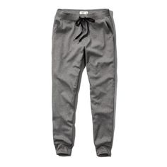 Abercrombie & Fitch Jogger Sweatpants ($28) ❤ liked on Polyvore featuring activewear, activewear pants, pants, bottoms, abercrombie, jeans, grey, cuff sweatpants, abercrombie & fitch and grey sweatpants