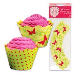Cupcake Wrap- Spring Butterflies - BC-WRAP500