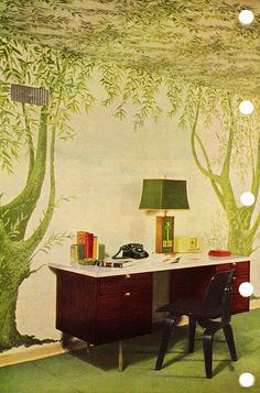 Bedroom wall mural, 1956 | Flickr - Photo Sharing!