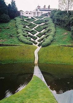 Designed in 1989 by architect Charles Jencks, and open to the public for only one day a year, the eye-poppingly original Garden of Cosmic Speculation features gardens, bridges, sculptures, and architectural works, and was inspired by mathematics and science