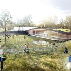 architecture Danish architect Bjarke Ingels, perhaps one of the youngest architects to get the starchitect label, is creating a model of biophilic design with a new sports center in Umea Landscape Architecture Jobs, Plans Architecture, Landscape Model, Sustainable Architecture, Urban Landscape, Contemporary Architecture, Landscape Architects, Landscape Designs, Google Architecture