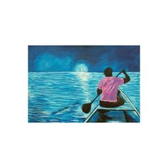 NOVICA Acrylic Impressionist Painting of a Seascape from Ghana ($376) ❤ liked on Polyvore featuring home, home decor, wall art, blue, impressionist paintings, paintings, blue home decor, acrylic painting, acrylic home decor and novica