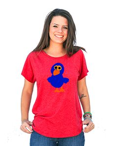 Bird Shirt in Red Dolman Tee  papercloudsapparel.com