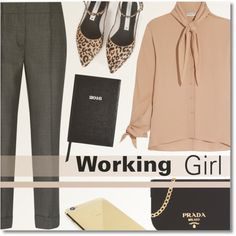 Working Girl by anilovic on Polyvore featuring Balenciaga, Prada, Zolà, Goldgenie and Sloane Stationery
