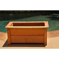 Hollis Wood Products 31 in. x 18 in. Redwood Planter Box-12030 - The Home Depot