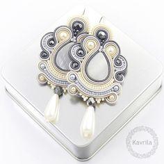 Kavrila - gioielli autore. treccia. soutache Oriental soutache grigio