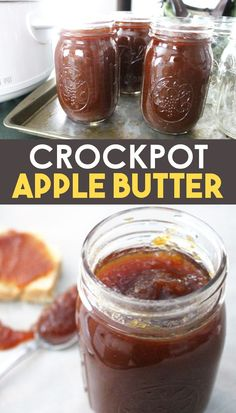 Crockpot Apple Butter (with canning directions) Make your own easy apple butter in a crockpot or slow cooker. This apple butter recipe can also be used for canning apple butter! Your house smells amazing while it cooks. Get the recipe today! Apple Butter Canning, Canning Apples, Apple Butter Slow Cooker, Recipe For Apple Butter, Easy Canning, Homemade Apple Butter, Canning Vegetables, Canning Labels, Canning 101
