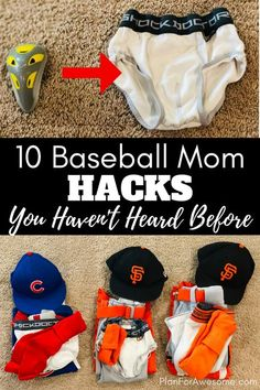 10 Baseball Mom Hacks for Little League You Haven't Heard Before BRILLIANT hacks for baseball moms! This girl has some awesome ideas on how to save money and your sanity this baseball season! My favorite hack is PlanForAwesome Baseball Snacks, Travel Baseball, Baseball Tips, Baseball Pants, Baseball Cleats, Baseball Quotes, Baseball Dugout, Baseball Field, Baseball Mom Shirts Ideas