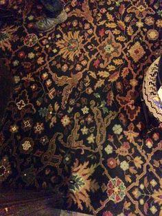 British pub carpet in the Ol' Star Inn, York, North Yorkshire - Jan 2017.