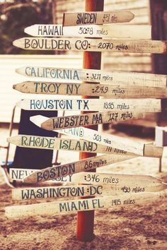 destination signs #travel. All the places I want to go <3