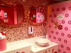 Painting of Hello Kitty Wall Mirror for Adorable Rooms