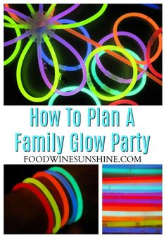 Here are some inexpensive afun Glow In The Dark Party Ideas! The whole family will have a blast at your glow party, and it's easy to plan! Fun Crafts To Do, Easy Diy Crafts, Crafts For Kids, Let The Fun Begin, Have Fun, Plan A, How To Plan, Glow Necklaces, Family Get Together