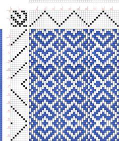 Weaving Draft Hearts, Judie Eatough, 2004-2015, #13915