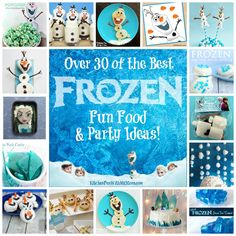 Over 30 of the BEST Frozen Party Ideas including fun food & crafts! Your little Disney fans are going to love these ideas!
