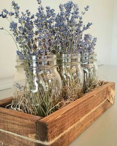 Dried Flower Clear Mason (Ball) Jar Set Dried Flower Clear Mason (Ball) Jar Set is one of our newest and most exciting products. A ready for your mantel, shelf, centerpiece, or counter item.